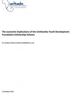 Economic Implications of the UYDF Scholarship Scheme