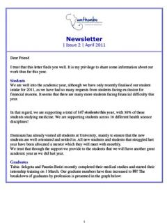Newsletter April 2011